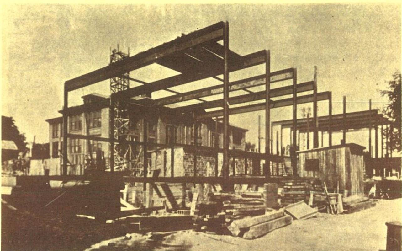 Construction of Gym and Auditorium circa 1930