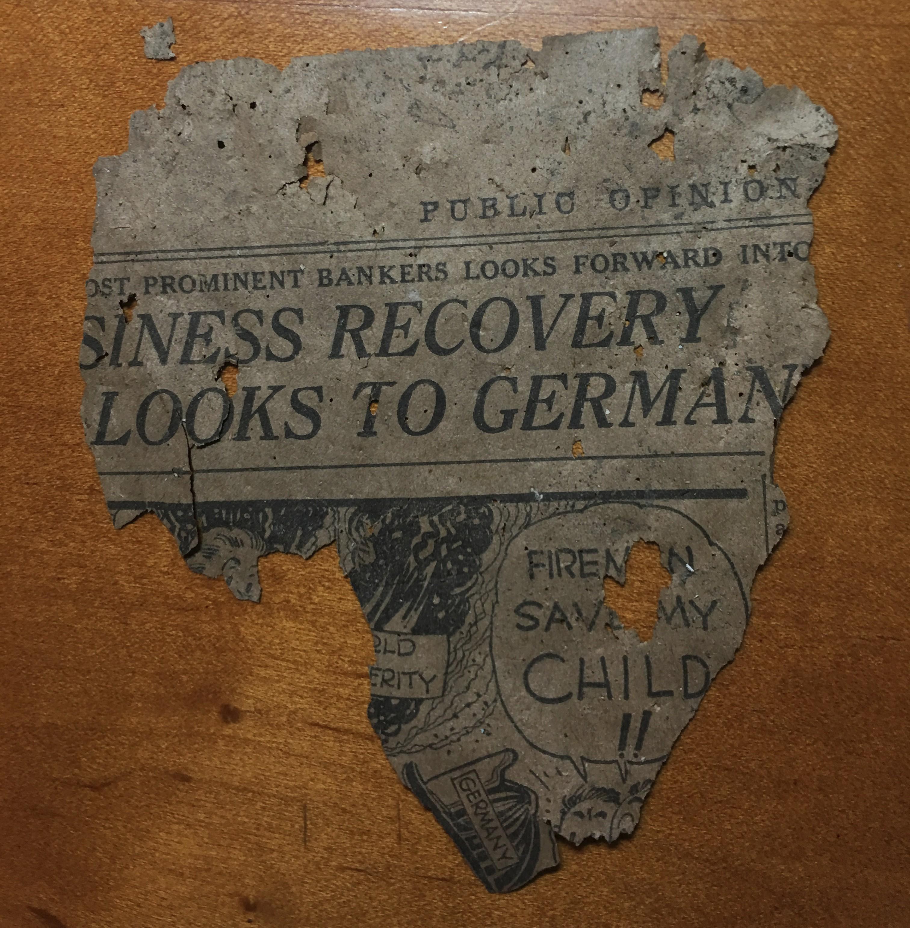 1932 Newsprint